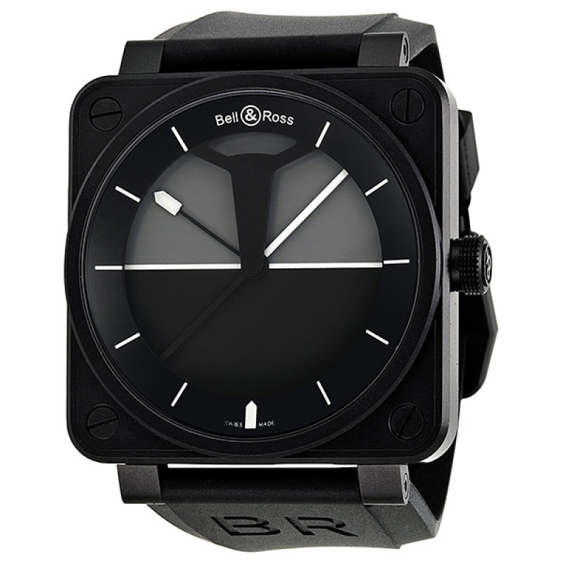 Replica Bell & Ross Horizon Automatic Black and Grey Dial Mens Watch BR0192-HORIZON