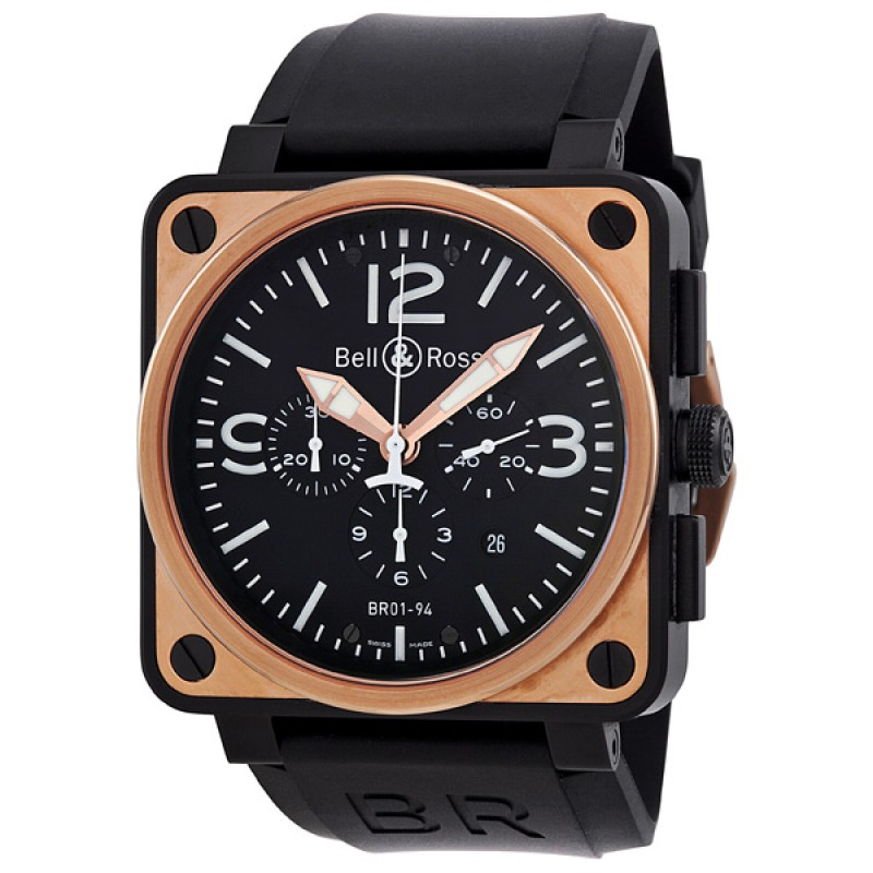 Replica Bell & Ross Automatic Chronograph Mens Watch BR0194-BICOLOR