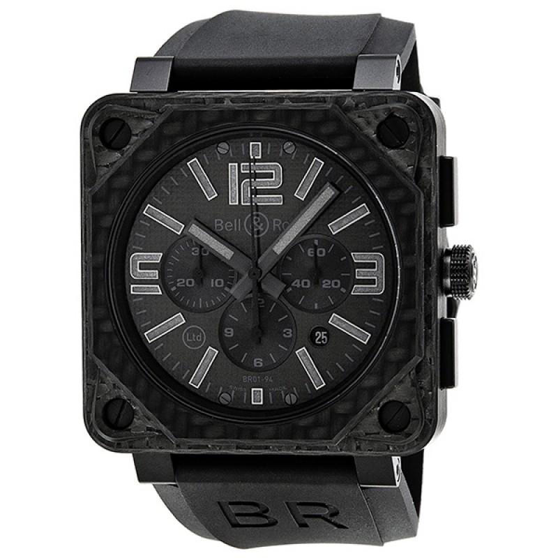 Replica Bell & Ross Aviation Chronograph Automatic Mens Watch BLRBR0194-CA-PH-RB