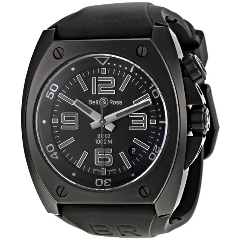 Replica Bell & Ross Phantom Black Dial Automatic Mens Watch BR0292CAPH