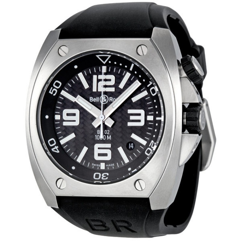 Replica Bell & Ross Marine Carbon Fiber Dial Automatic Mens Watch BR0292-ST-CBF