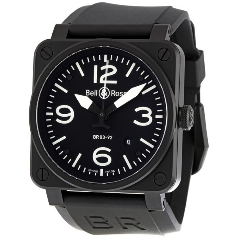 Replica Bell & Ross Aviation 42MM Automatic Mens Watch BR03-92-CB