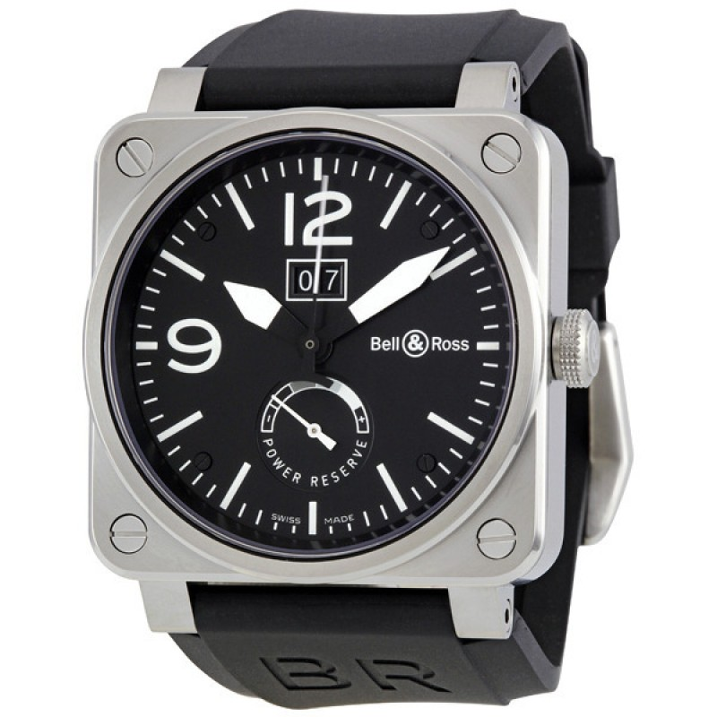 Replica Bell & Ross Grande Date and Reserve De Marche Automatic Mens Watch BR0390-BL-ST