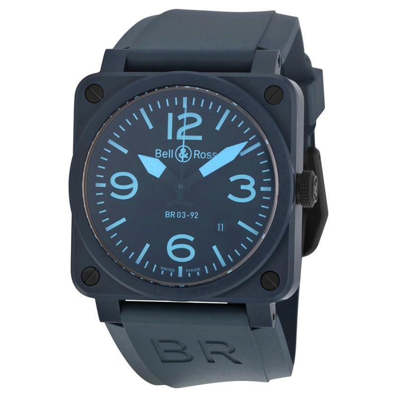 Replica Bell & Ross Aviation Automatic Mens Watch BR0392-CREAM-BLUE