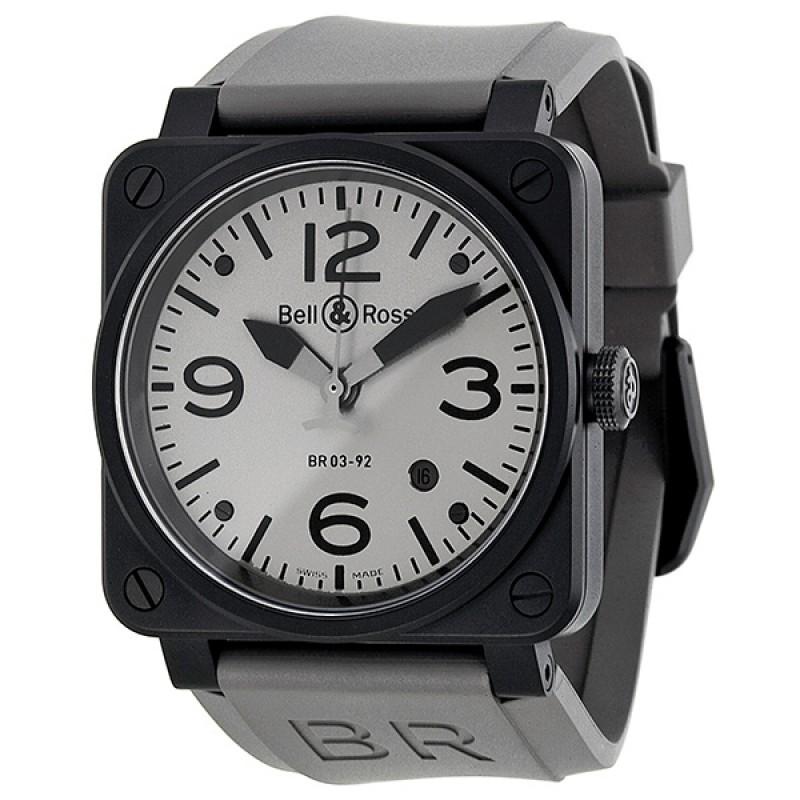 Replica Bell & Ross Commando Automatic Grey Dial Matte Black PVD Mens Watch BR0392-COMMANDO