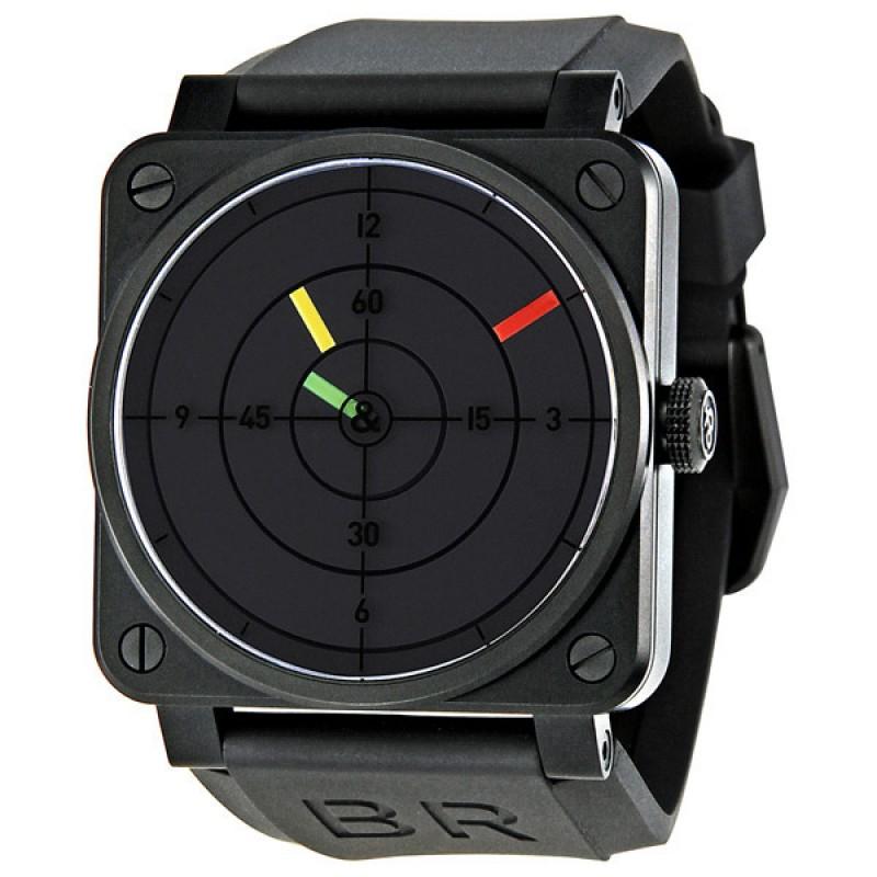 Replica Bell & Ross Aviation Radar Black Dial Mechanical Mens Watch BR0392-RADAR