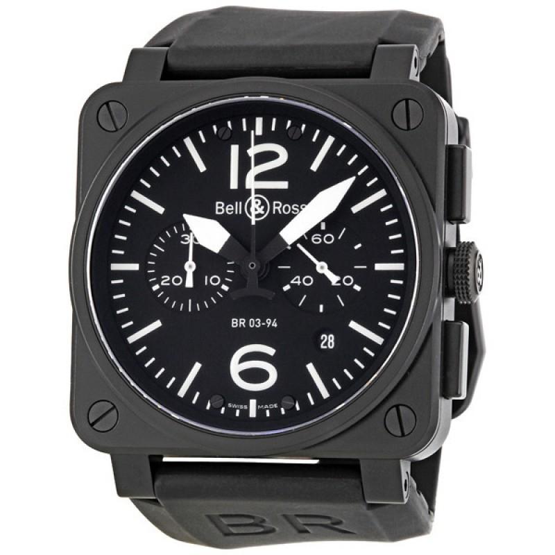 Replica Bell & Ross Aviation Chronograph Mens Watch BR0394-BL-CA