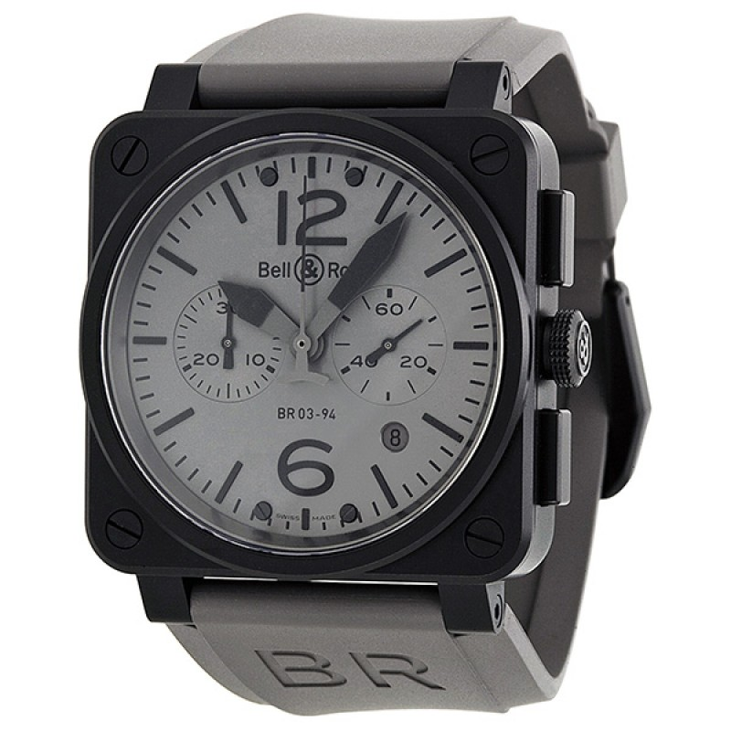 Replica Bell & Ross Commando Automatic Chronograph Dark Grey Mens Watch BR0394-COMMANDO