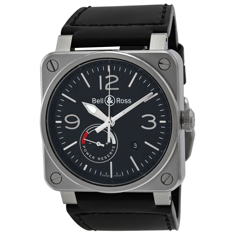 Replica Bell & Ross Officer Automatic Mens Watch BR0397-BL-SI-SCA