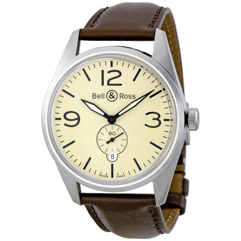 Replica Bell & Ross Vintage Original Cream Dial Automatic Mens Watch BRV123-CRM-ST