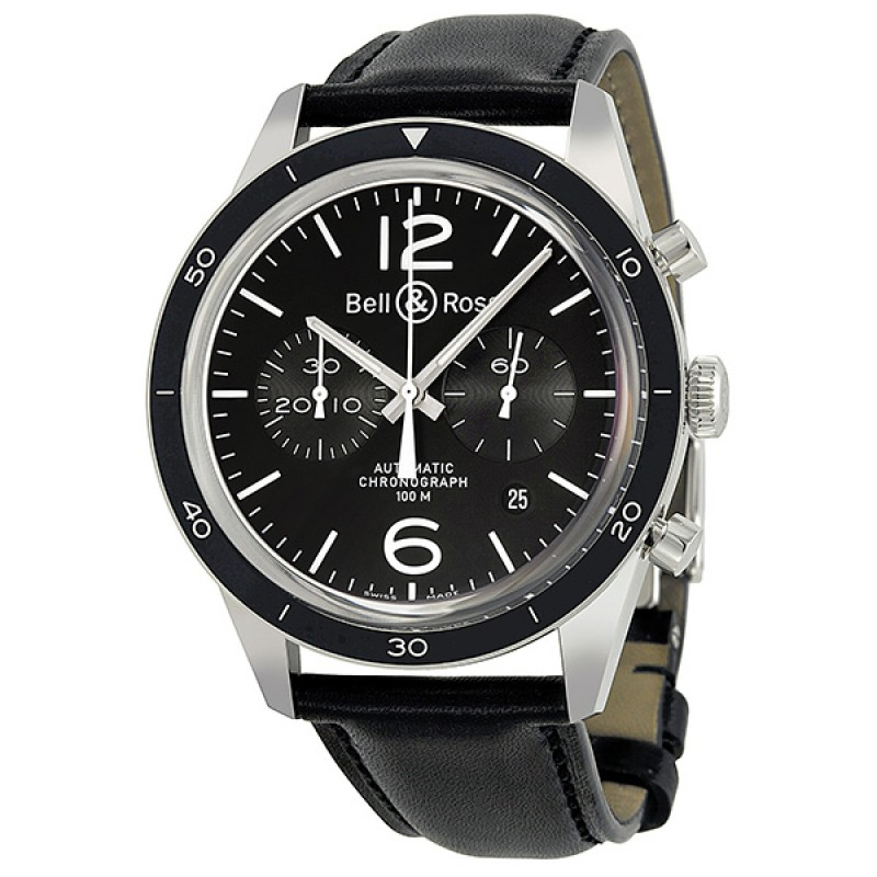Replica Bell & Ross Vintage Automatic Chronograph Mens Watch BRG126-BL-BE/SCA
