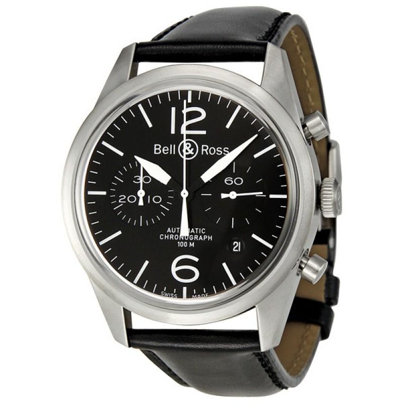Replica Bell & Ross Original Black Dial Chronograph Automatic 41 MM Mens Watch BR-126-ORIGINAL-BLACK