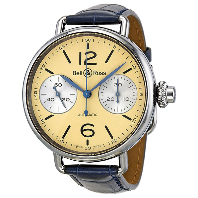 Replica Bell & Ross Vintage Monopusher Chronograph Automatic Mens Watch BRWW1-MONO-IV