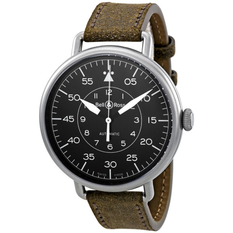 Replica Bell & Ross Military Black Dial Distressed Automatic Mens Watch BRWW192-MIL