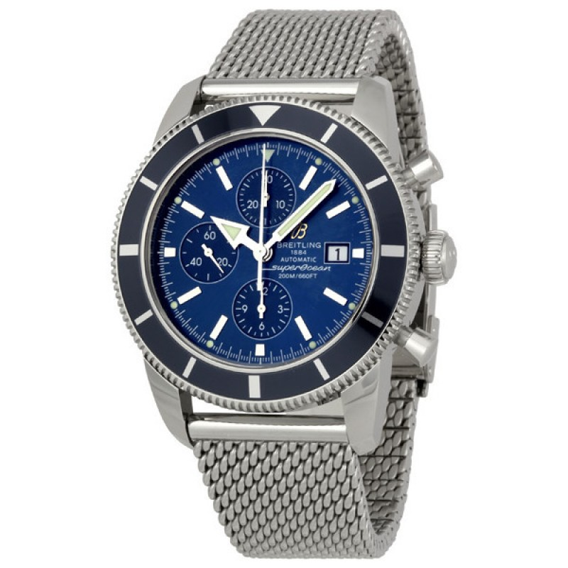Fake Breitling Aeromarine Chrono Superocean Heritage Mens Watch A1332016-C758SS