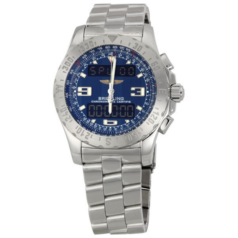 Fake Breitling Airwolf Mens Analog-Digital Watch A7836315-C761SS