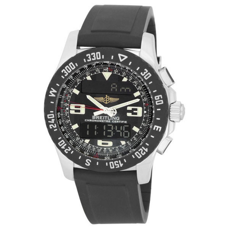Fake Breitling Airwolf Raven Mens Analog-Digital Watch A7836423-B911BKPD