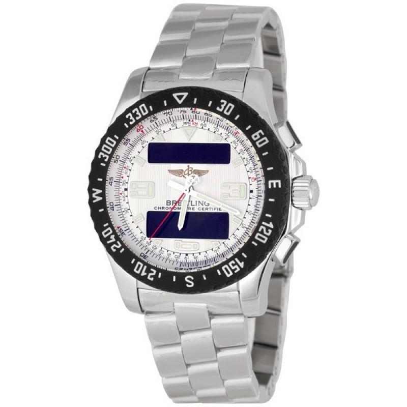 Fake Breitling Airwolf Raven Analog-Digital Mens Watch A7836434-G653SS