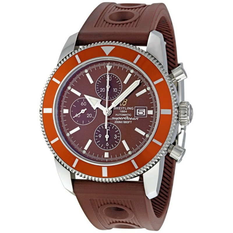 Fake Breitling Superocean Brown Dial Chronograph Automatic Mens Watch A1332033-Q553BROD