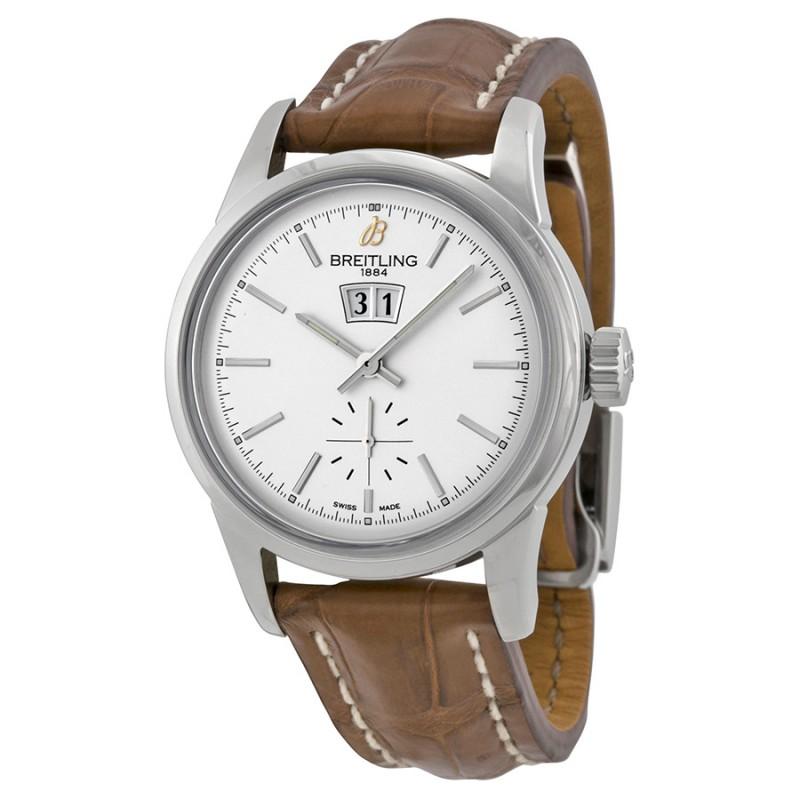 Fake Breitling Transocean 38 Silver Dial Watch A1631012-G781BRCD