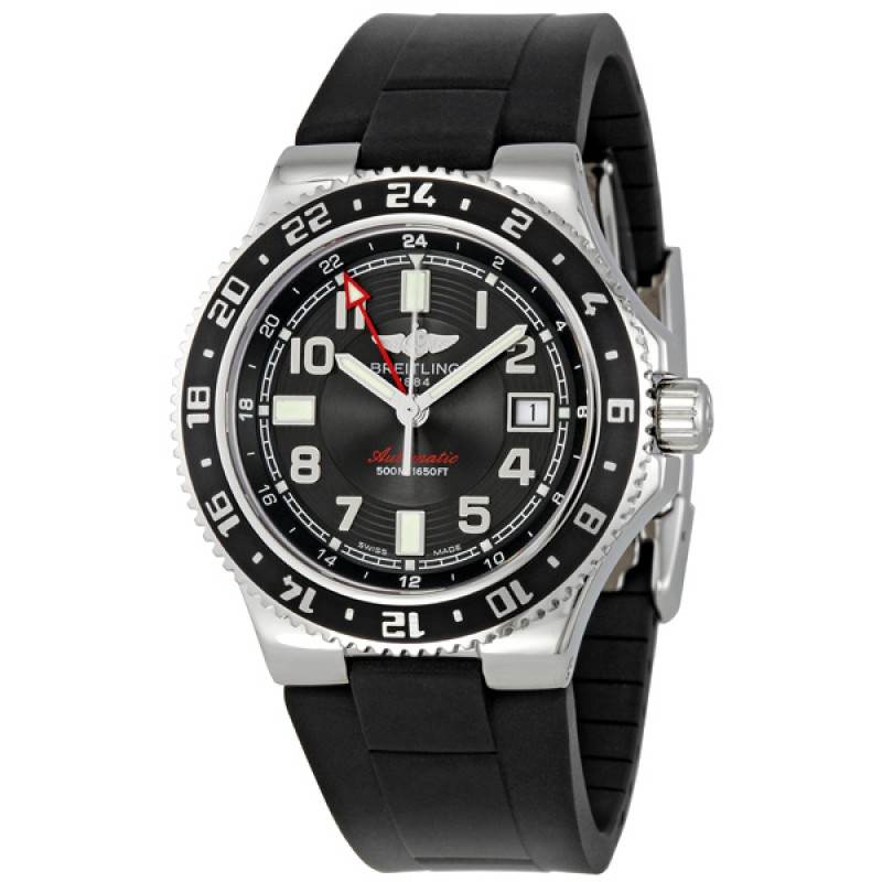 Fake Breitling Aeromarine Superocean GMT Mens Watch A3238011-BA38BKRD
