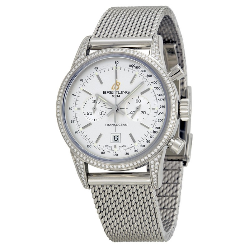 Fake Breitling Transocean Chronograph Unisex Watch A4131063-G757SS
