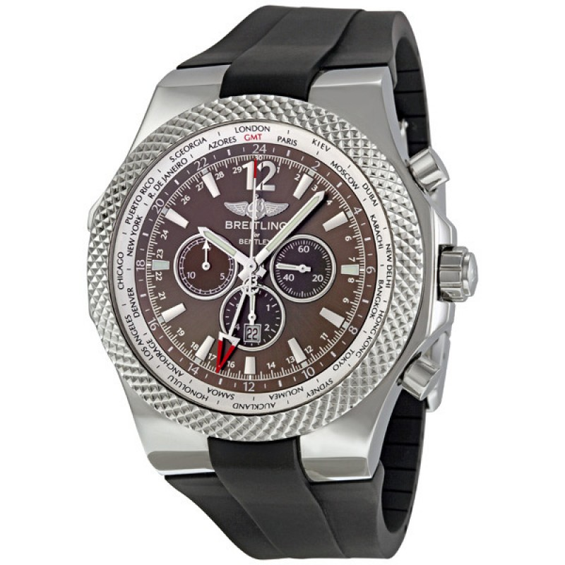 Fake Breitling Bentley GMT Chronograph Mens Watch A4736212-Q554BKRD