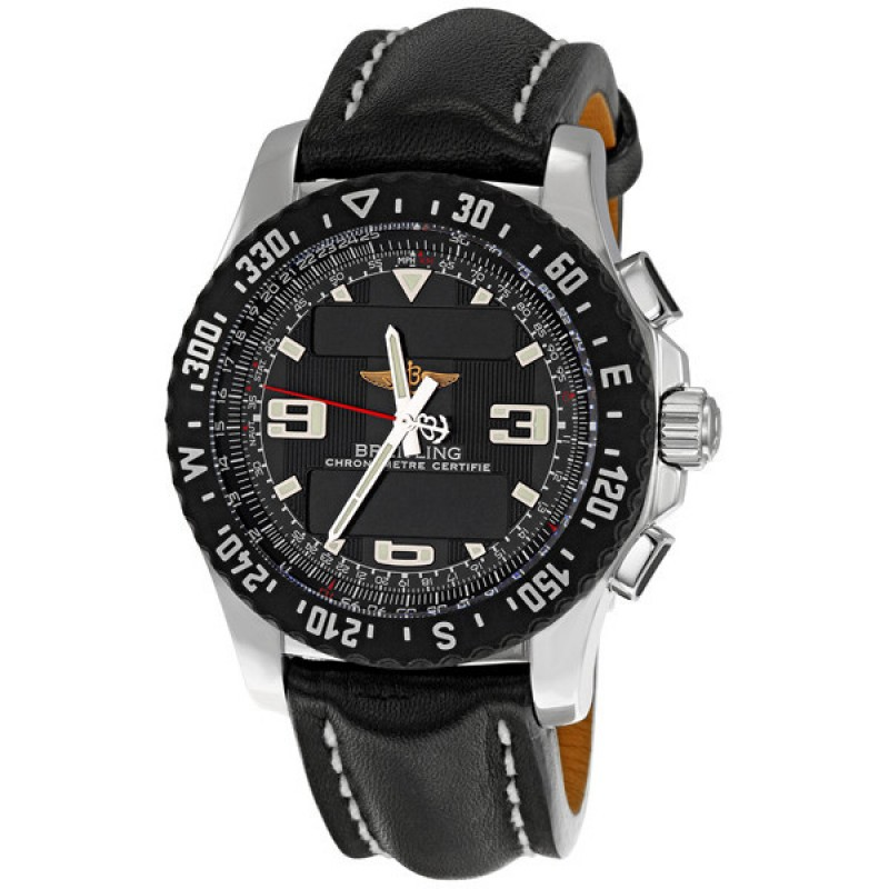 Fake Breitling Airwolf Raven Volcano Mens Watch A7836423-B911BKLT