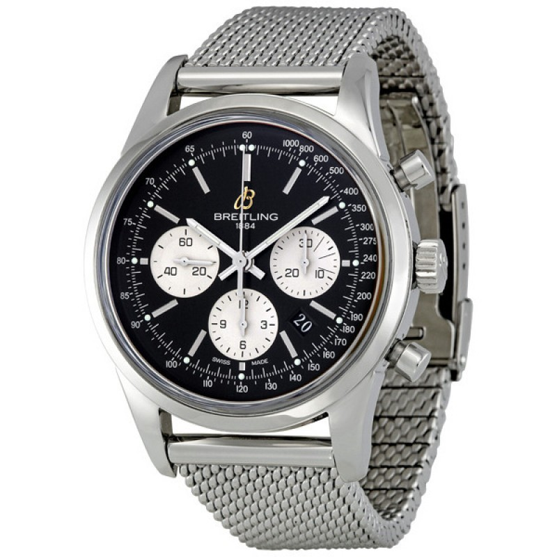 Fake Breitling Transocean Chronograph Automatic Mens Watch AB015112-BA59SS