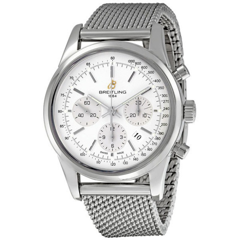 Fake Breitling Transocean Chronograph Mens Watch AB015112-G715SS