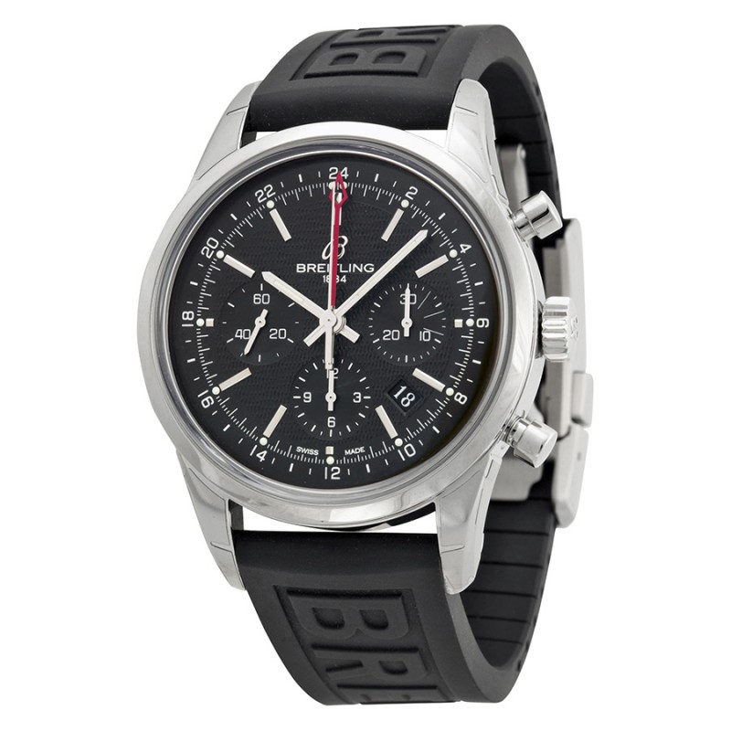 Fake Breitling Transocean Chronograph GMT Mens Watch AB045112-BC67BKPD3