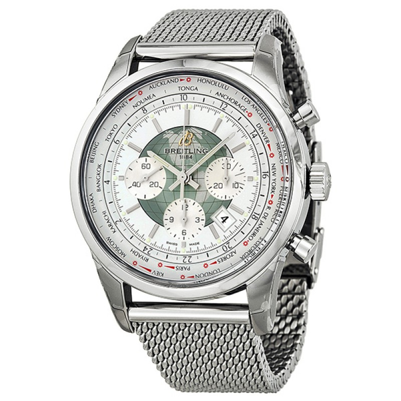 Fake Breitling Transocean Chronograph Unitime Automatic Mens Watch AB0510U0-A732SS