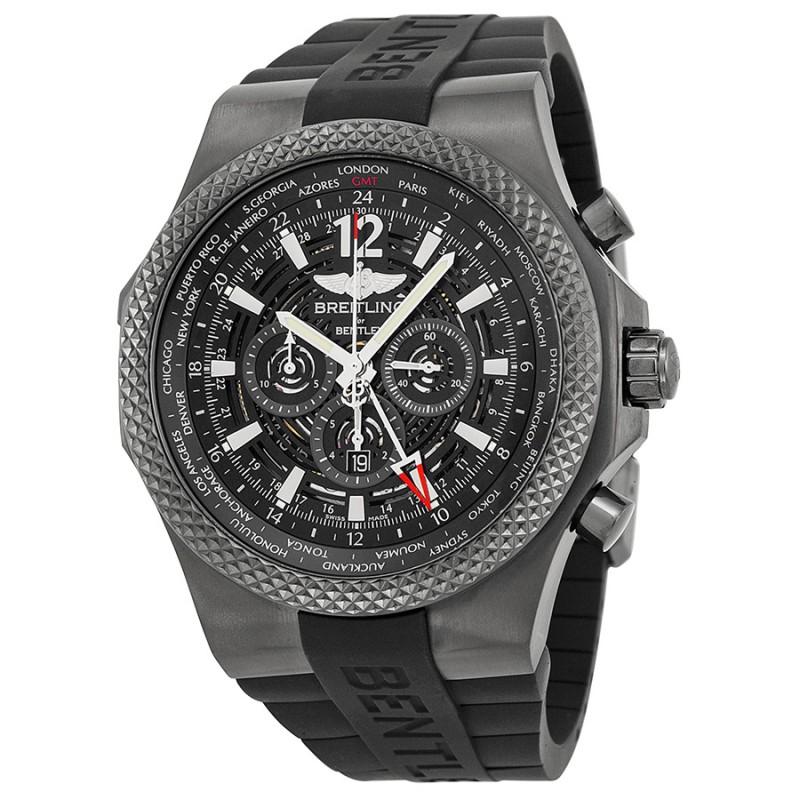 Fake Breitling Bentley GMT Ebony Dial Automatic Watch M4736225-BC76BKRD