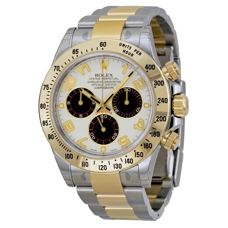 Fake Rolex Daytona Ivory Chronograph and 18kt yellow gold Mens Watch116523IBKAO