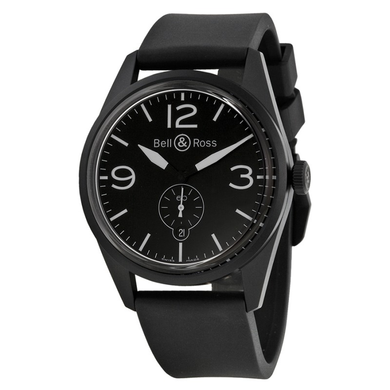 Replica Bell & Ross Black Dial Automatic Mens Watch BRV123-BL-CA-SRB