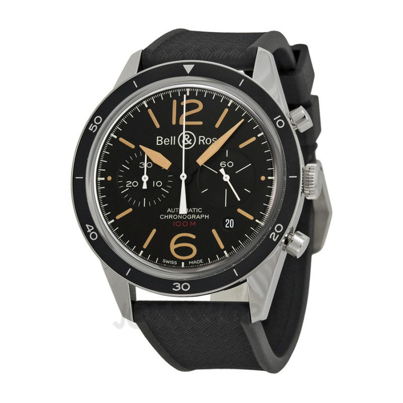 Replica Bell & Ross Vintage Sport Heritage Automatic Mens Watch BRV126-ST-HER-SRB