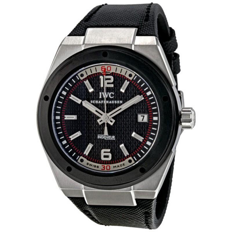 Fake IWC Ingenieur Black Dial Automatic Mens Watch IW323401