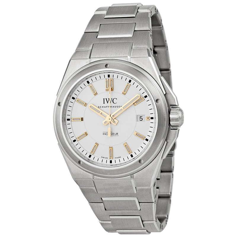 Fake IWC Ingenieur Automatic Silver Dial Steel Bracelet Mens Watch IW323906