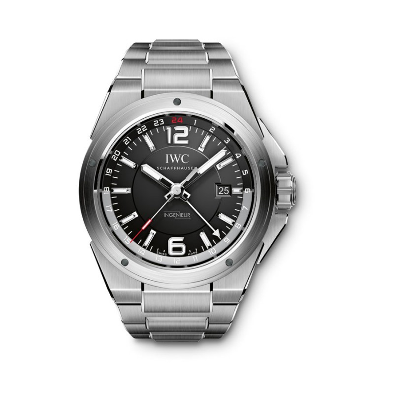 Fake IWC Ingenieur Black Dial Mens Watch IW324402