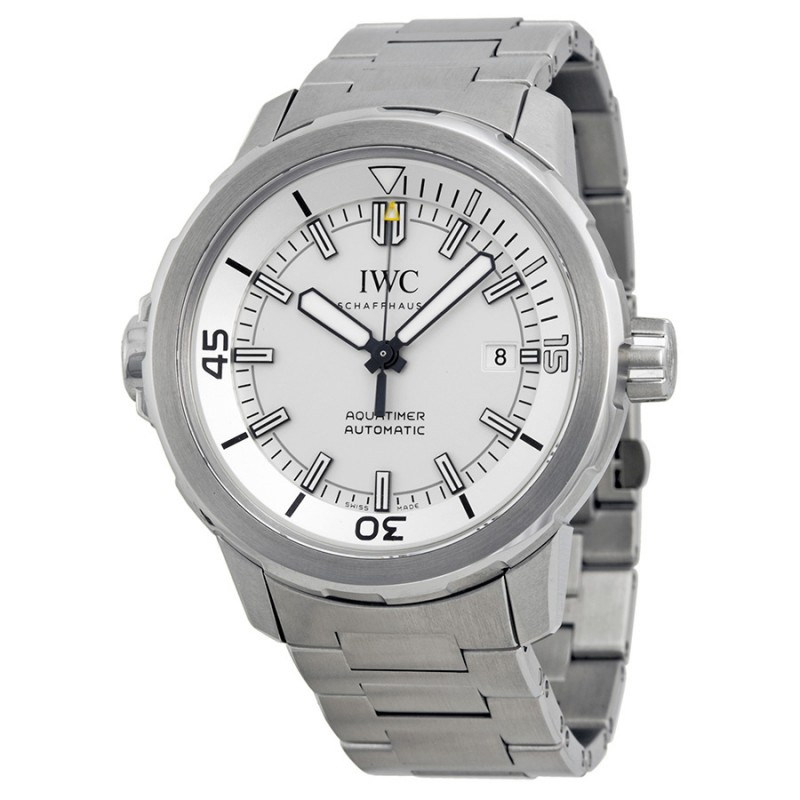 Fake IWC Aquatimer Automatic Silver Dial Mens Watch IW329004