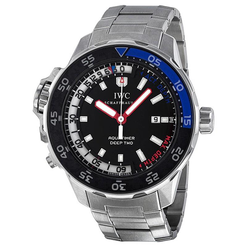 Fake IWC Aquatimer Black Dial Mens Watch IW354703