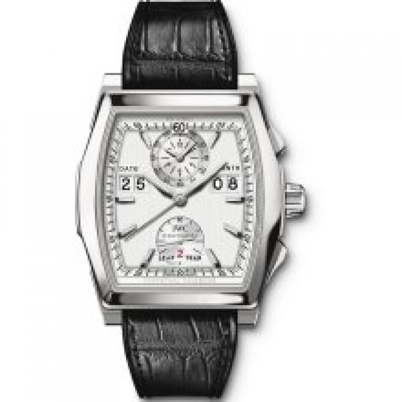 Fake IWC Da Vinci Perpetual Calendar Silver Dial Chronograph Mens Watch IW376101