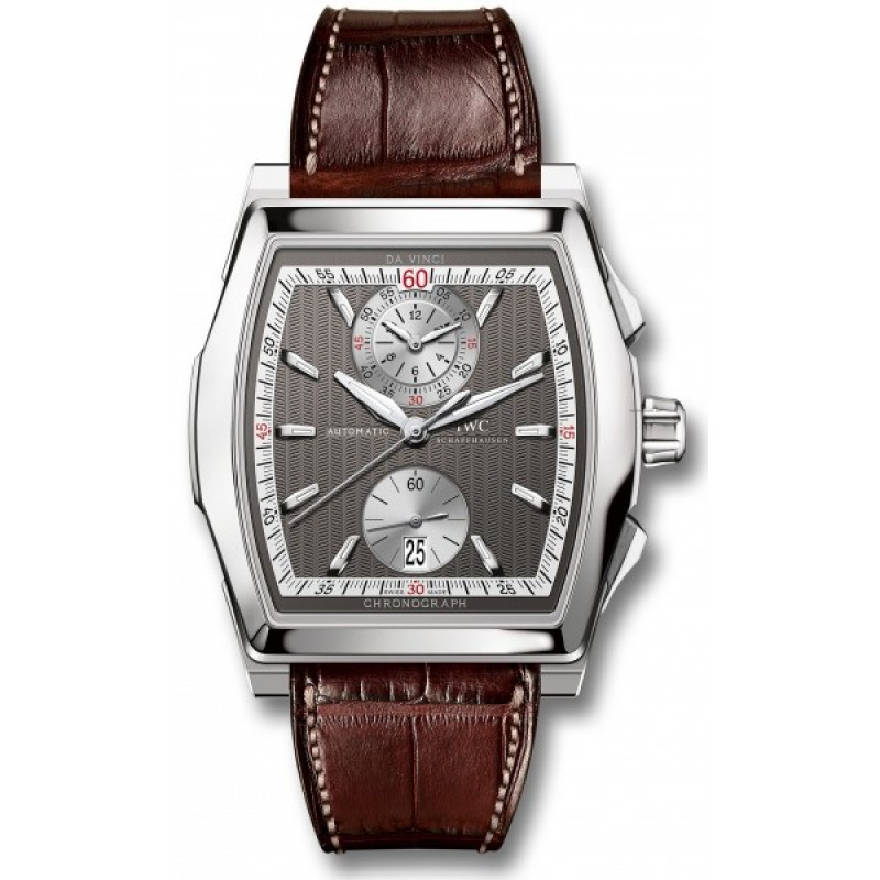 Fake IWC Da Vinci Automatic Chronograph White Gold Mens Watch IW376417