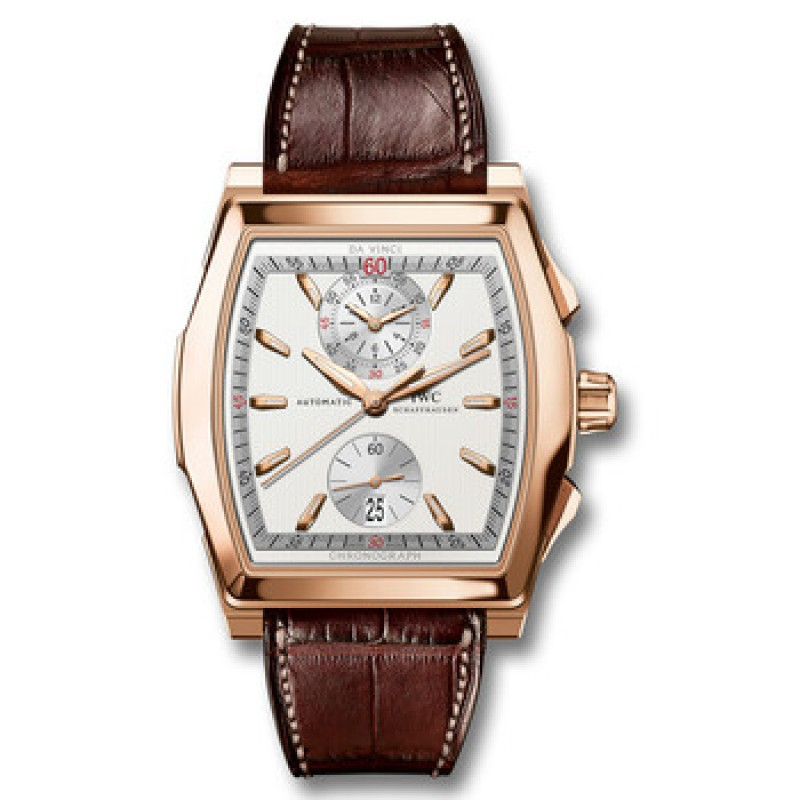 Fake IWC Da Vinci Rose Gold Automatic Chronograph Mens Watch IW376420