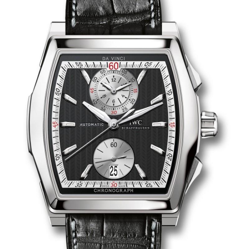 Fake IWC Da Vinci Black Dial Chronograph Mens Watch IW376421