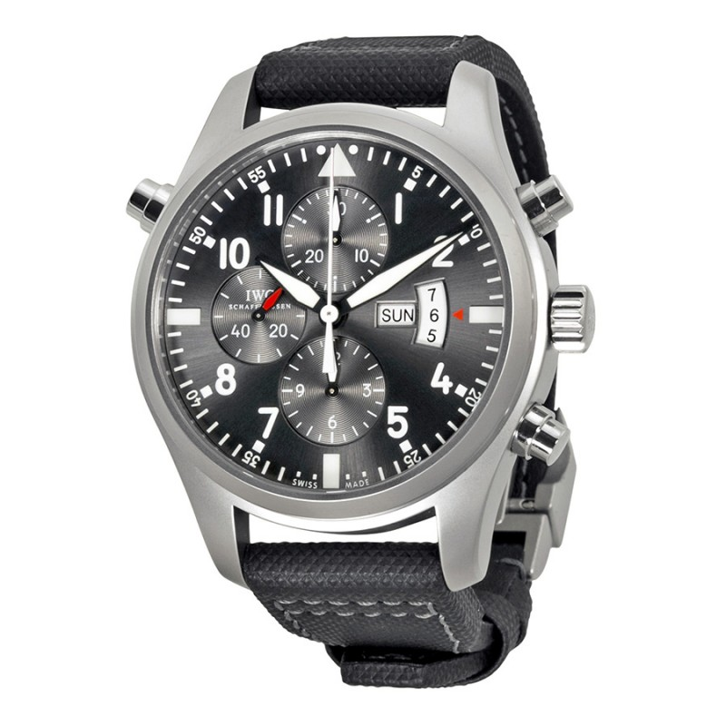 Fake IWC Pilot's Patrouille Suisse Grey Dial Automatic Mens Watch IW377805