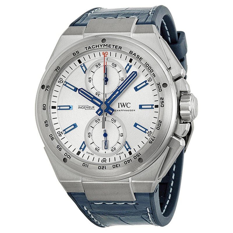 Fake IWC Ingenieur Chronograph Racer Silver Dial Mens Watch IW378509