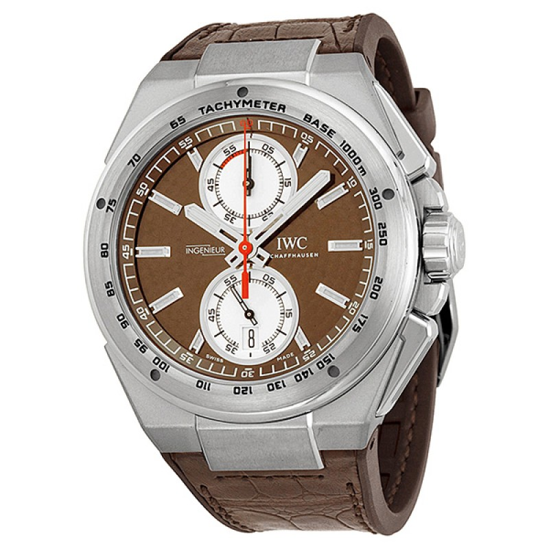 Fake IWC Ingenieur Chronograph Silberpfeil Brown Dial Automatic Mens Watch IW378511