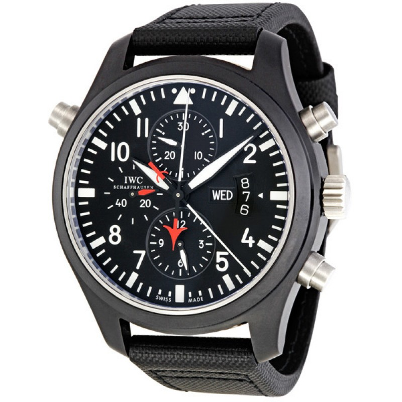 Fake IWC Pilot's Double Chronograph Edition Automatic Mens Watch IW379901