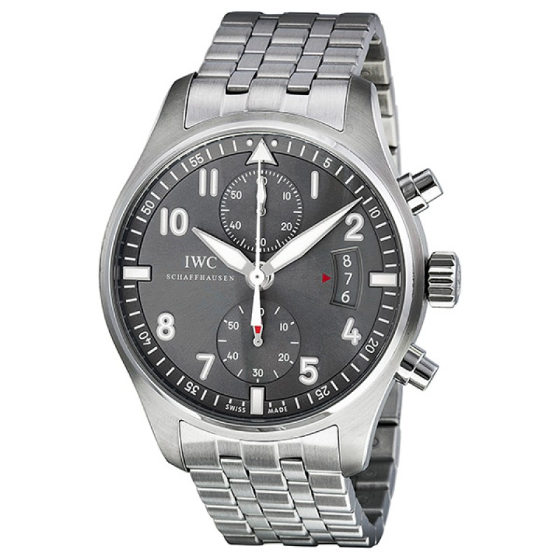 Fake IWC Spitfire Ardoise Chronograph Dial Mens Watch IW387804